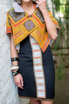 ibu Movement Runway Collection | Miao Tribe Collar with Vintage Naga Cloth Dress