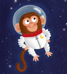 Louise Forshaw @Munkey_Pants on Twitter shared... Space monkey! @advocateart01 #advocateevolve ♥≻★≺♥