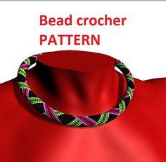 Bead crochet pattern beading necklace by UkrainianBeadJewelry