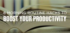 8 Morning Routine Hacks to Boost Your Productivity I recently interviewed Hal Elrod, author of The Miracle Morning, and he talked about how combining all of the activities that the most successful people do every day into a one . Miracle Morning, Live Happy, Successful People, Productivity, Routine, Healthy Living, Author, Hacks, Activities
