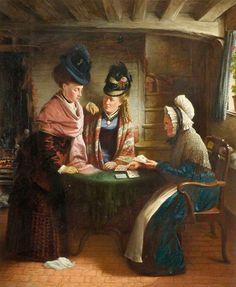 John Lane Lomas (British artist, c.1816–1894) The Fortune Teller