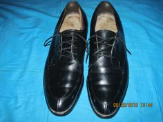 Tons of life left in this pair of men's dress black leather shoes.