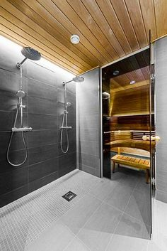Do you want to create fabulous home sauna design ideas as your home design ideas? Creating a fabulous home sauna sounds great. In addition to making aesthetics in your home, a home sauna is very suitable for you to choose… Continue Reading → Sauna Steam Room, Sauna Room, Bathroom Spa, Modern Bathroom, Bathroom Ideas, Remodel Bathroom, Minimal Bathroom, Bathroom Cleaning, Bathroom Designs