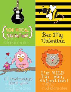 kiki creates: Free Kids Valentines {Free Download}