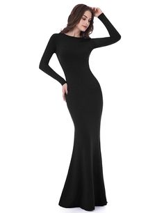online shopping for Sarahbridal Women's Long Sleeve Prom Dresses Mermiad Backless Sheath Evening Gowns from top store. See new offer for Sarahbridal Women's Long Sleeve Prom Dresses Mermiad Backless Sheath Evening Gowns Backless Long Dress, Prom Dresses Long With Sleeves, Black Long Sleeve Dress, Mermaid Prom Dresses, Sleeve Dresses, Long Dresses, Women's Dresses, Casual Dresses, Modest Wedding Gowns