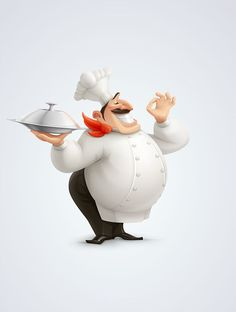 jpg by Alina Ivanova Character Concept, Character Art, Concept Art, Cartoon Chef, Mascot Design, Le Chef, Sugar Art, Character Design References, Photomontage