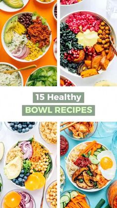 Superfood Recipes, Vegetarian Recipes, Healthy Recipes, Vegetarian Bowl, Vegetarian Meal Planning, Weight Loss Meals, 21 Day Fix Meal Plan, Diet Meal Plans, Whole Foods Meal Plan