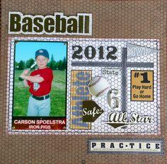 Carson's Baseball page - Scrapbook.com