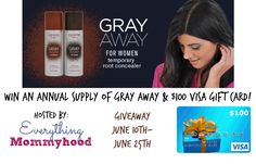 Year Supply Of Gray Away Plus $100 Visa GC GIVEAWAY 6/25 - Newly Crunchy Mama Of 3
