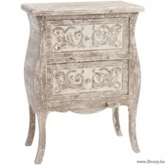 J-Line Oosterse Etnic Commode met 2 Lades Boho Hout Zand 70 Jline-by-Jolipa-70010