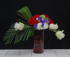 Independence Day Floral Designs from Rittners Floral School, Boston, MA.  www.floralschool.com