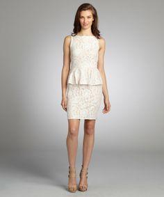 Lace peplum dress on sale only $40.99