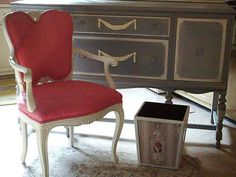 Vintage French Arm Chair Painted Shabby Chic by SimplyCottageChic, $200.00