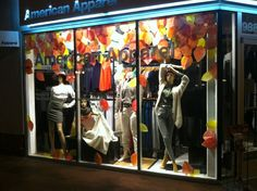 Cozy Fall display in Arizona. Merchandizing by Evan.  #Fall #display #AmericanApparel