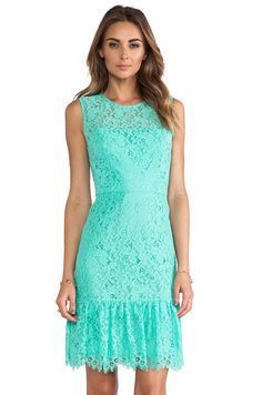 Shoshanna Lace Dress in Aquamarine. Jacket and perf. Day Dresses, Casual Dresses, Daytime Dresses, Prom Dresses, Oasis Dress, Revolve Clothing, Lace Clothing, Sweet Dress, Dress Me Up