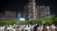 The Keio Asahi Beer garden in Shinjuku. Until Sept. 23.