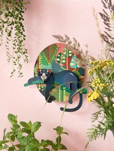 Jungle puma by Studio Roof Wall Painting Decor, Diy Wall Decor, Artistic Room, Paper Art, Paper Crafts, Bright Decor, Jungle Animals, Cat Art, Papercraft