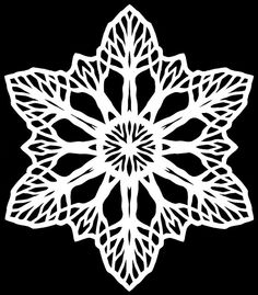 Trees by beautifulcataya, via Flickr Paper Snowflakes, Paper Stars, Paper Cutting Patterns, Crochet Snowflake Pattern, Snow Flakes Diy, Paper Ornaments, Snowflake Designs, Scrapbook Sketches, Origami Paper