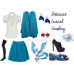 """Articuno Pokemon Casual Cosplay"" by cupcake-curiosities on Polyvore"
