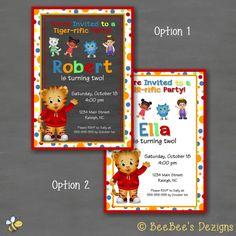 Daniel Tiger Birthday Party InvitationCustom by BeeBeesDezigns, $10.00