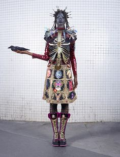"FASHION: A ""Modern-Day Warrior"" - Debra Shaw for Manish Arora Fall-Winter 2015/16 - AFROPUNK"