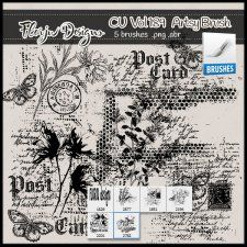 Cu vol 189 Artsy Brush Florju Designs #CUdigitals cudigitals.comcu commercialdigitalscrapscrapbookgraphics #digiscrap
