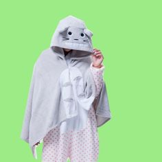 Animal Kigurumi Grey Totoro Cosplay Costume Hoodie Cloak/Shawl/Blanket