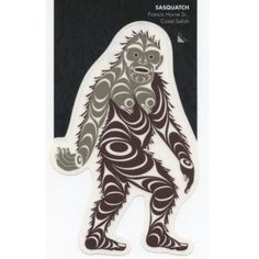 Now you can stick a beautiful piece of indigenous art wherever you please! This amazing Sasquatch Vinyl Decal was designed by Coast Salish artist Francis Horne Sr. Classic Monsters, Indigenous Art, Drums, Vinyl Decals, Tatting, Creatures, Nail Art, Artist, Image