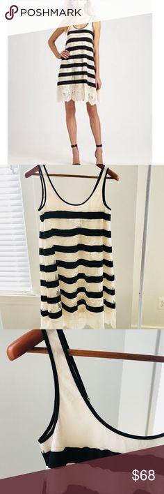 129cb6e516a8 BCBG Augustine Dress Gorgeous ivory lace dress with black satin stripes.  Perfect condition