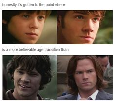 Sam's Age Transitions [Colin looks more like Jared than Jared looks like Jared...] #Supernatural