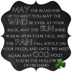 Irish Blessing Chalkboard Printable from {Too Much Time On My Hands}