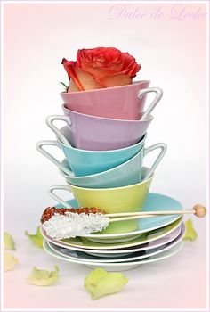 time for tea! Coffee Cups, Tea Cups, Afternoon Tea Parties, Fun Cup, Mad Hatter Tea, My Tea, Pretty Pastel, Something Sweet, Tea Cup Saucer