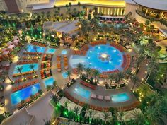 Pool complex at Red Rock Casino Resort & Spa Las #Vegas
