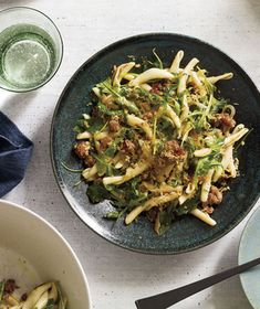 Pasta With Sausage, Arugula, and Crispy Bread Crumbs Recipe