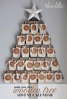 35 DIY Advent Calendar Ideas To Countdown The Days 'Til Christmas - Glitter and Caffeine - - 35 DIY Advent Calendar Ideas Anyone Can Make. DIY your very own homemade Christmas advent calendar and add some more festive decorations to your home! Make An Advent Calendar, Homemade Advent Calendars, Wooden Advent Calendar, Diy Calendar, Countdown Calendar, Christmas Countdown, Christmas Calendar, Christmas Holidays, Christmas Glitter