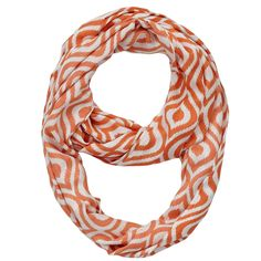 Jump into any season with our Celosia Orange Ikat Infinity Scarf! It will add a pop of color to your outfit and everyone will be asking about your trendy scarf. https://www.uptowncasual.com/collections/scarves/products/celosia-orange-ikat-infinity-scarf #scarves