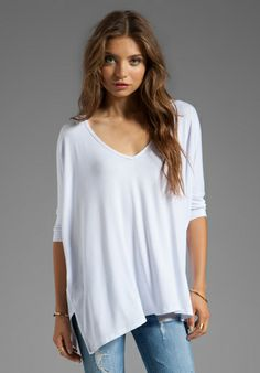 TYLIE Batwing Top in White - Sale