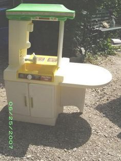 Fisher Price Kitchen Set, We had many tea parties and ate breakfast at this little table.