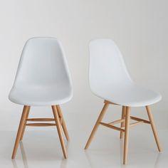 Chaise à coque plastique (lot de 2), Jimi La Redoute Interieurs : prix, avis & notation, livraison.  Style scandinave, un mariage de blanc et bois clair pour les chaises Jimi à associer aux autres meubles de la gamme Jimi vendus sur laredoute.fr.Caractéristiques des chaises Jimi :Coque plastique.Assise en ABS*Piétement en hêtre vernis nitrocellulosique* L'acrylonitrile butadiène styrène ou ABS est un polymère thermoplastique présentant une bon...