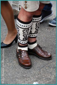 I love these lederhosen socks