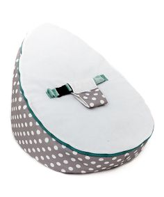 Take a look at the Gray Polka Dot Beanbag Seat on #zulily today!