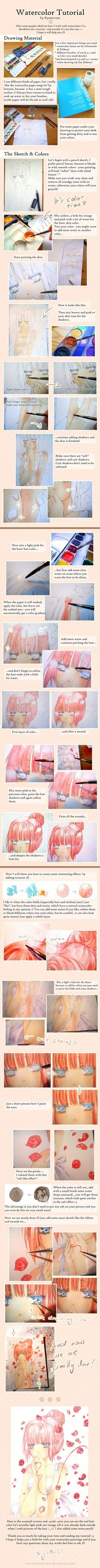 Just Be Friends - Watercolor Tutorial by Kyatto-san.deviantart.com on @deviantART