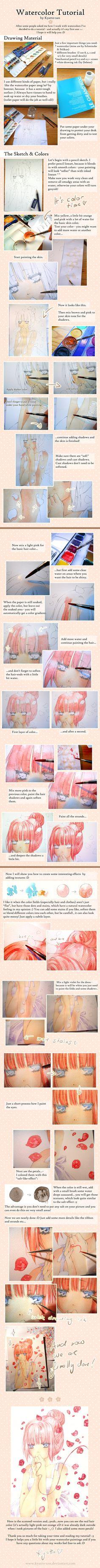 Just Be Friends - Watercolor Tutorial by Kyatto-san.deviantart.com on @deviantART