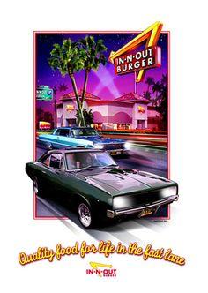 In-N-Out Burger T-shirt illustration