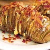 Bacon Cheddar Hasselback Potatoes