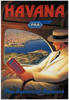 Havana, Cuba ~ vintage travel poster ♥ ♥  www.paintingyouwithwords.com