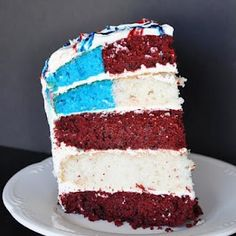 A flag cake. Duh. #4thofjuly #cake #yum #desserts #americana