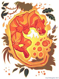 SHIRT - Fire Tiger with Berries by ~TastesLikeAnya on deviantART
