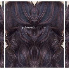 I love this one! chocolate highlights and balayage on dark or black hair .... Yummm