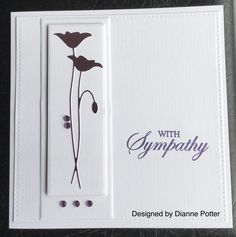 By Dianne Potter:Sue Wilson Noble Double Pierced square die,Memory Box Prim Poppy die,Hero Arts sentiment stamp